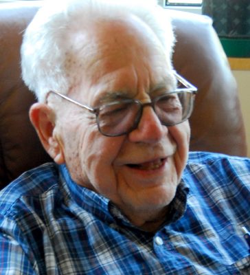 Dr. Fred Hunt is all smiles after granting Curator Maya Hirschman a lovely interview in July, 2015.