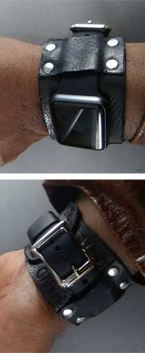 Custom watch band made by student for his SmartWatch.