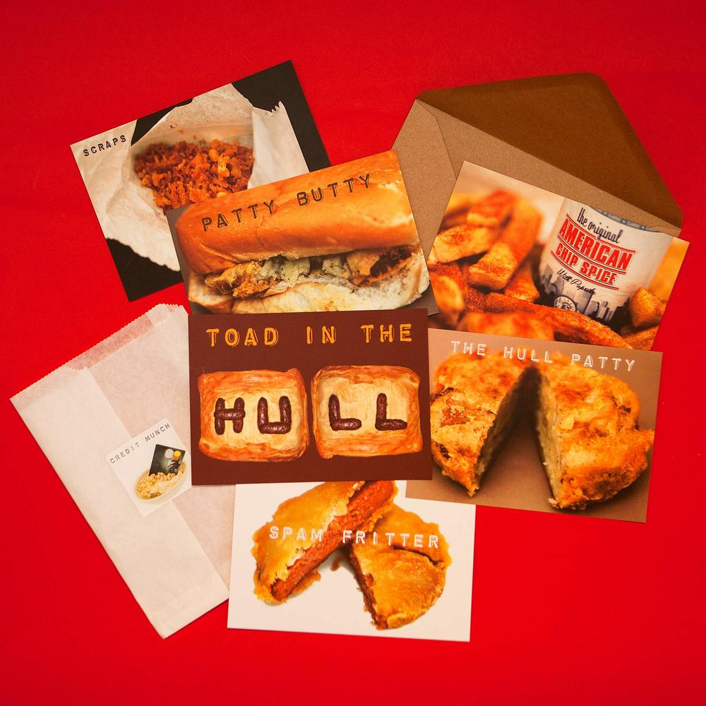 Set of 6 Hull food postcards available from my online shop.