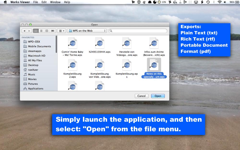 open wps file mac