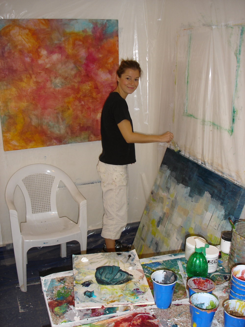 Working in my studio in Amman, Jordan 2008