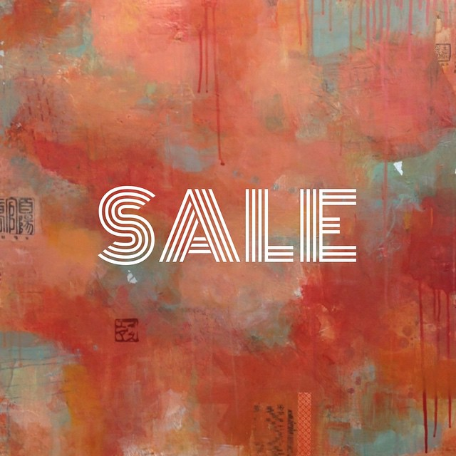 SALE! Here's your chance to own an original painting at 25%-50% off original pricing! I have a lot of inventory and since moving studios I need to make room. So check out the sale page on my website (link in profile) 👆, tell your friends, and keep checking back because I'm going to be adding more work throughout the month. For pricing or availability of any other work on my site, please send a message. Inventory changes frequently 😊 // Happy Summer!! // #artforsale #art #sale #livingartists #collectart #interiordesign #interiordeco #artcollector #filizsoyak #brooklyn #painting #mixedmedia (at www.filizsoyak.com/sale)