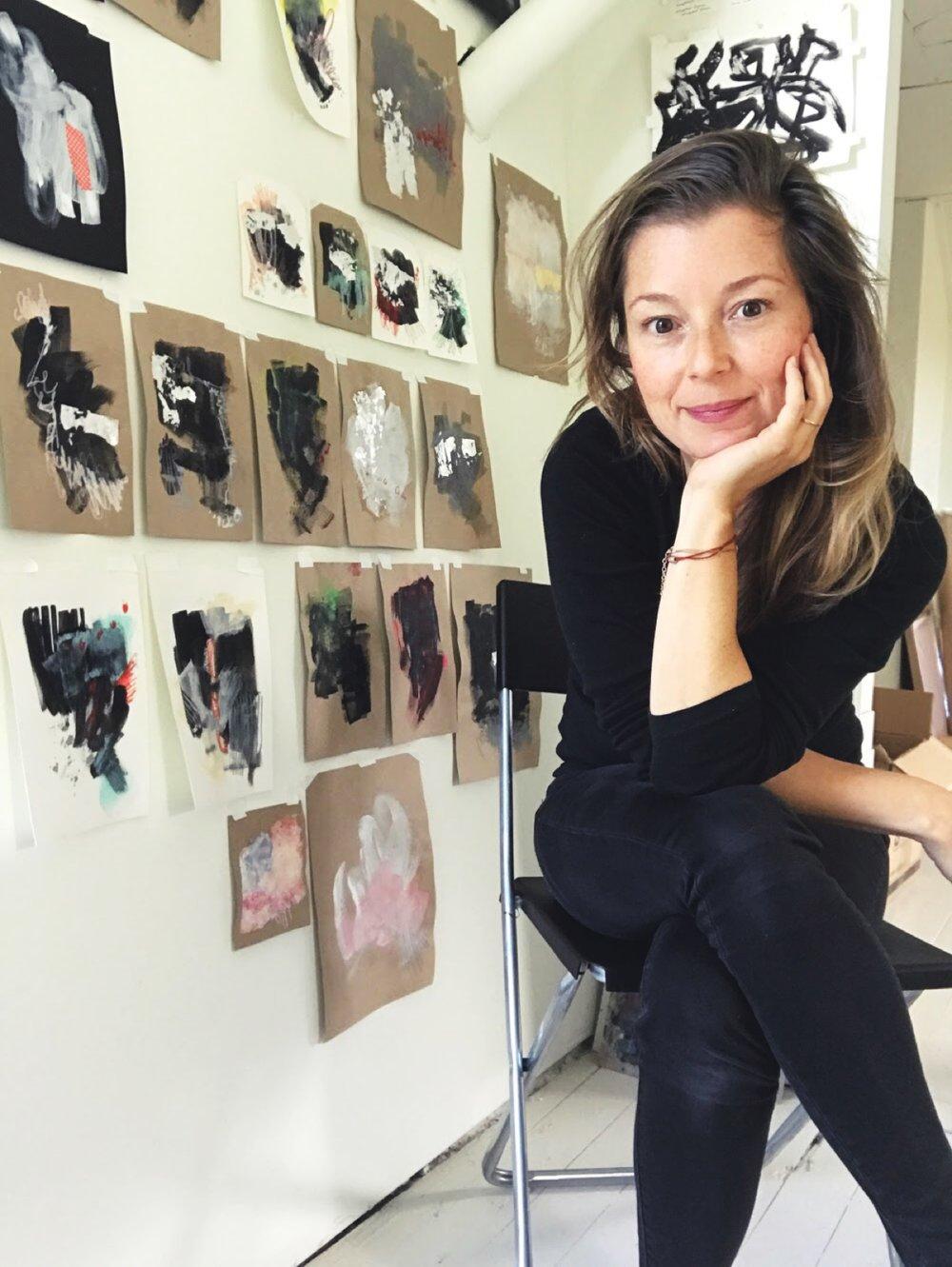 Filiz Emma Soyak in her Hudson, NY studio (2017)
