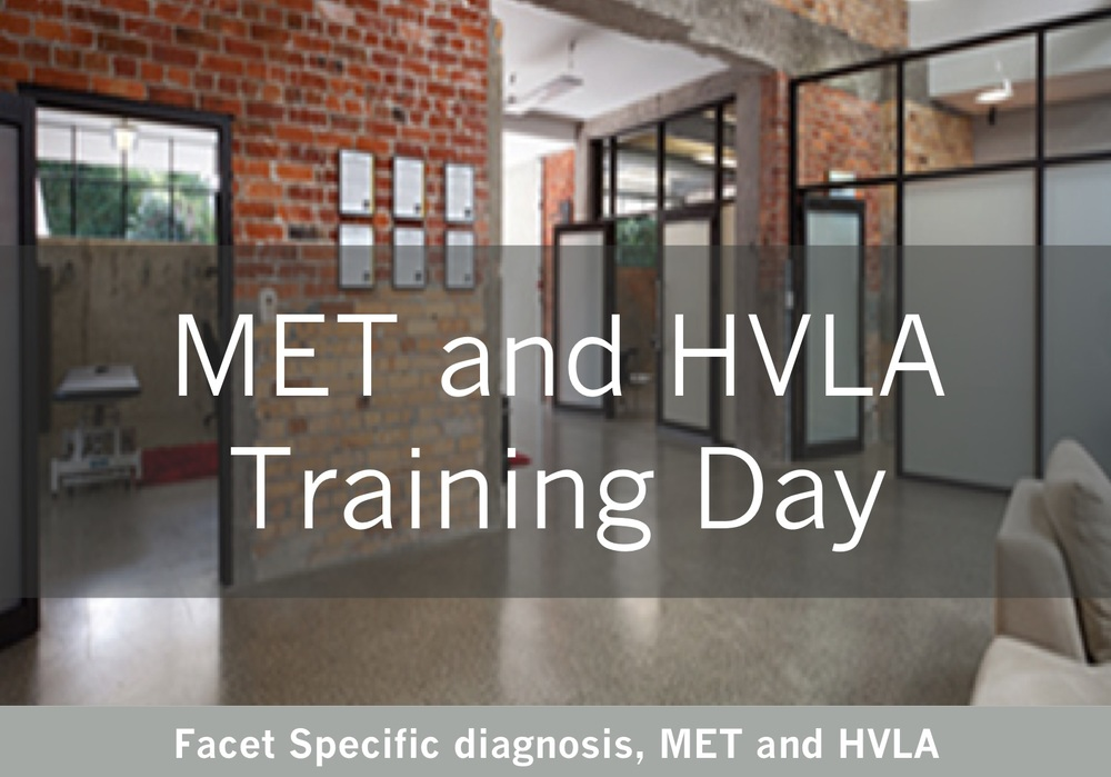 Facet specific diagnosis and MET and HVLA training day