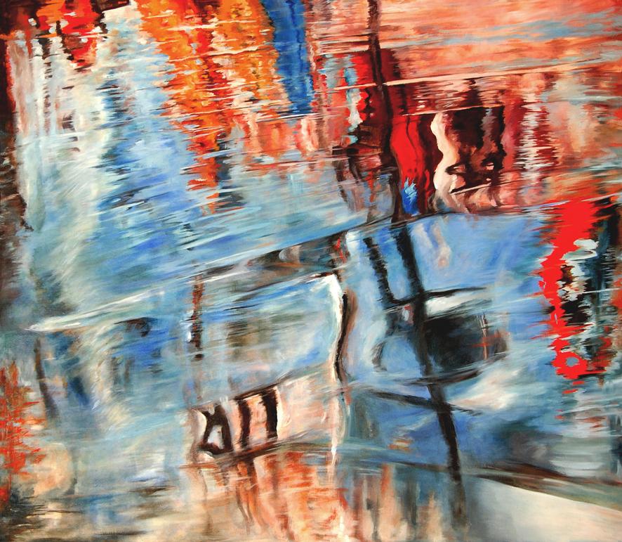IMPRESIÓN DE AGUA   Acrílico sobre tela, 128 x 148 cm. 2008.