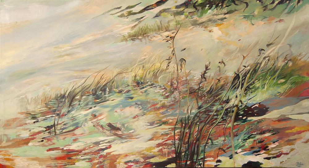 BORDE DE RÍO  Acrílico sobre tela, 200 x 100 cm.2013