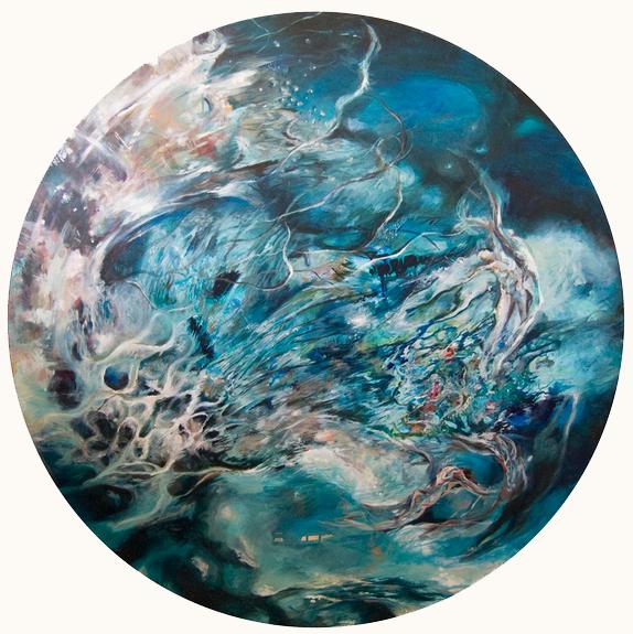 DE MAR   Acrílico sobre tela, 100 cm de diámetro.2012