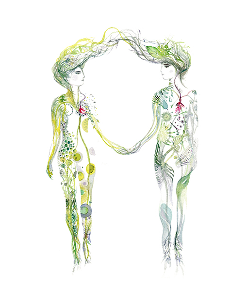 The twins III   Year: 2016  Medium: watercolor on paper