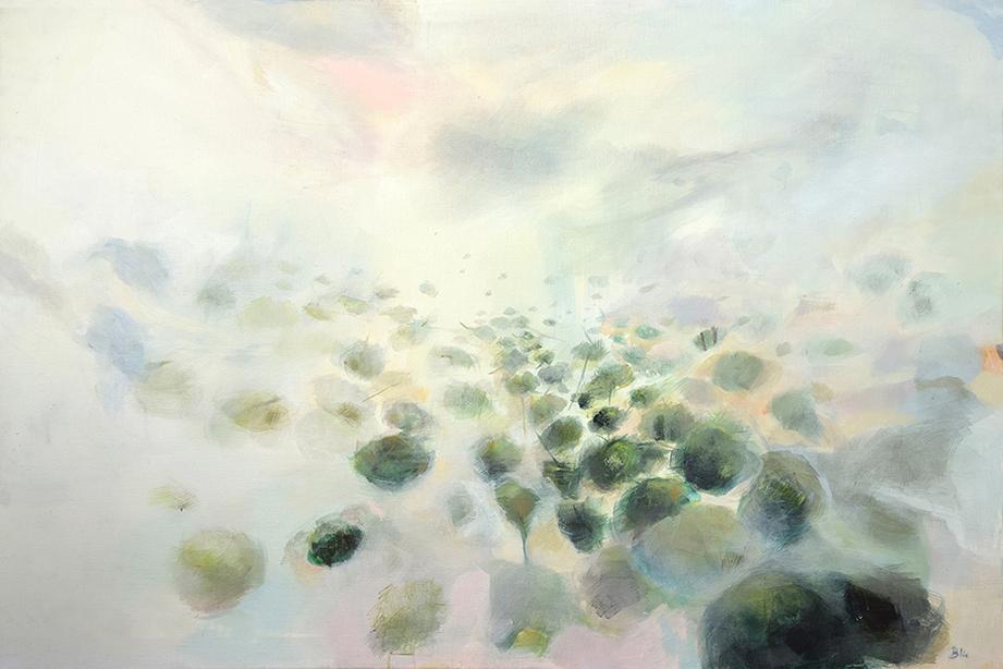 El viaje de los árboles  Acrílico sobre tela, 96 x 140 cm. 2016