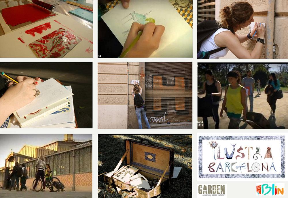 Curso Ilustra Barcelona / Garden Coworking
