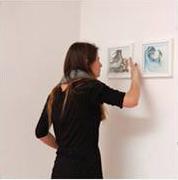 Montaje exposición Taller de Libro Álbum, en Galería Espora. 2013 Stgo.