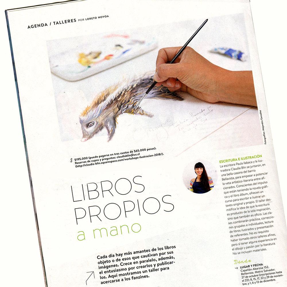 Revista Paula visitó nuestro taller e hizo una linda  nota , que apareció el domingo 14 de octubre.