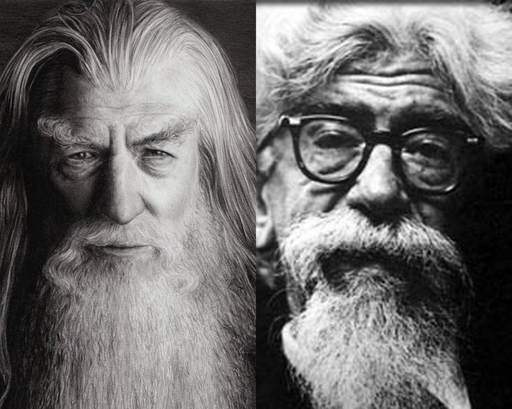 Heschel is to Gandalf as Clark Kent is to Superman?