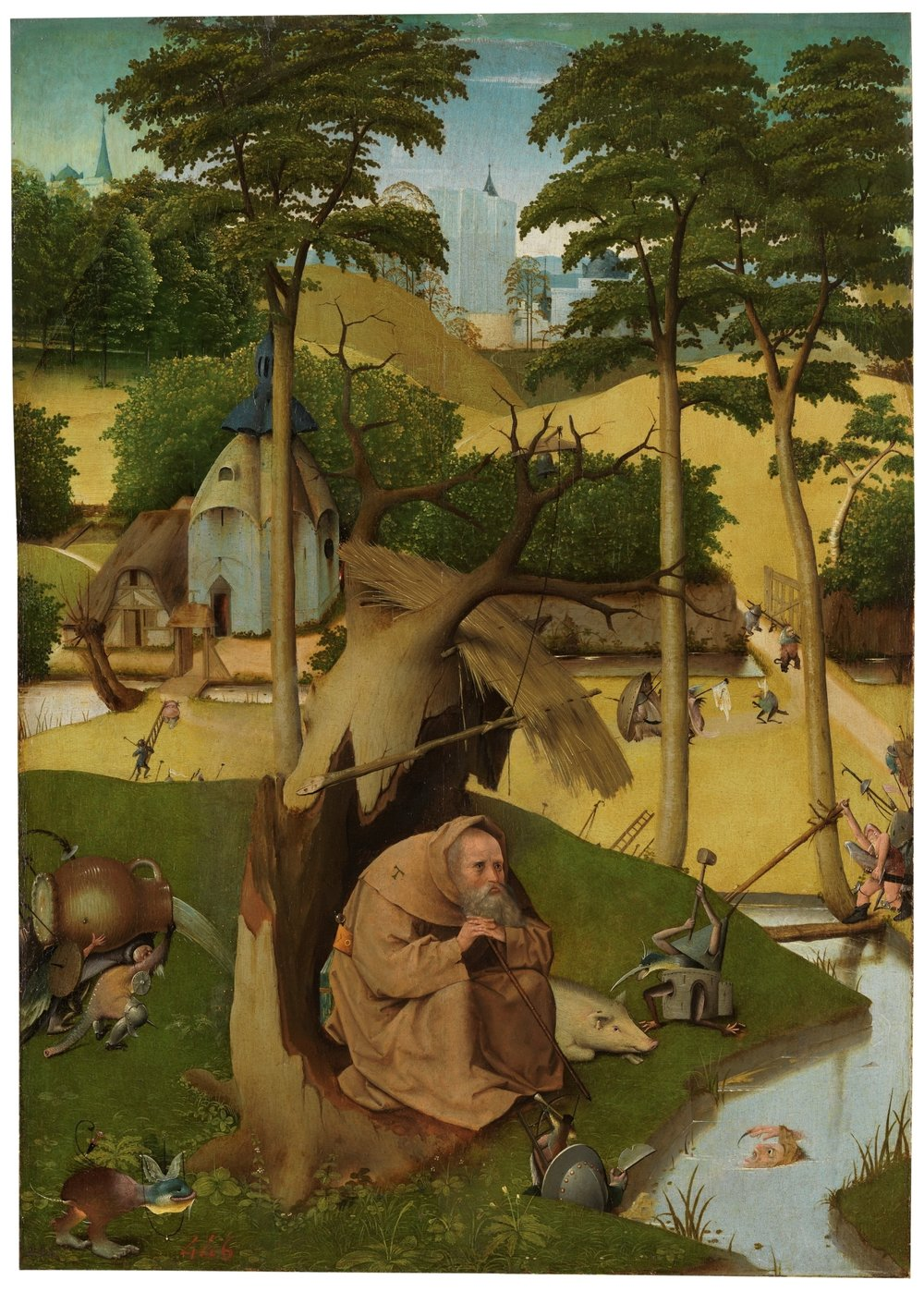 The Temptations of Saint Anthony - BOSCH, HIERONYMUS  Museo Nacional del Prado  ©   By the end of his life, Anthony learned to co-exist with the demons.