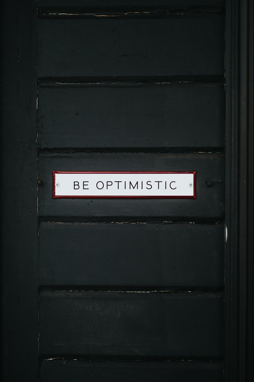 Do we want to settle for optimism? Photo by  Nathan Dumlao  on  Unsplash