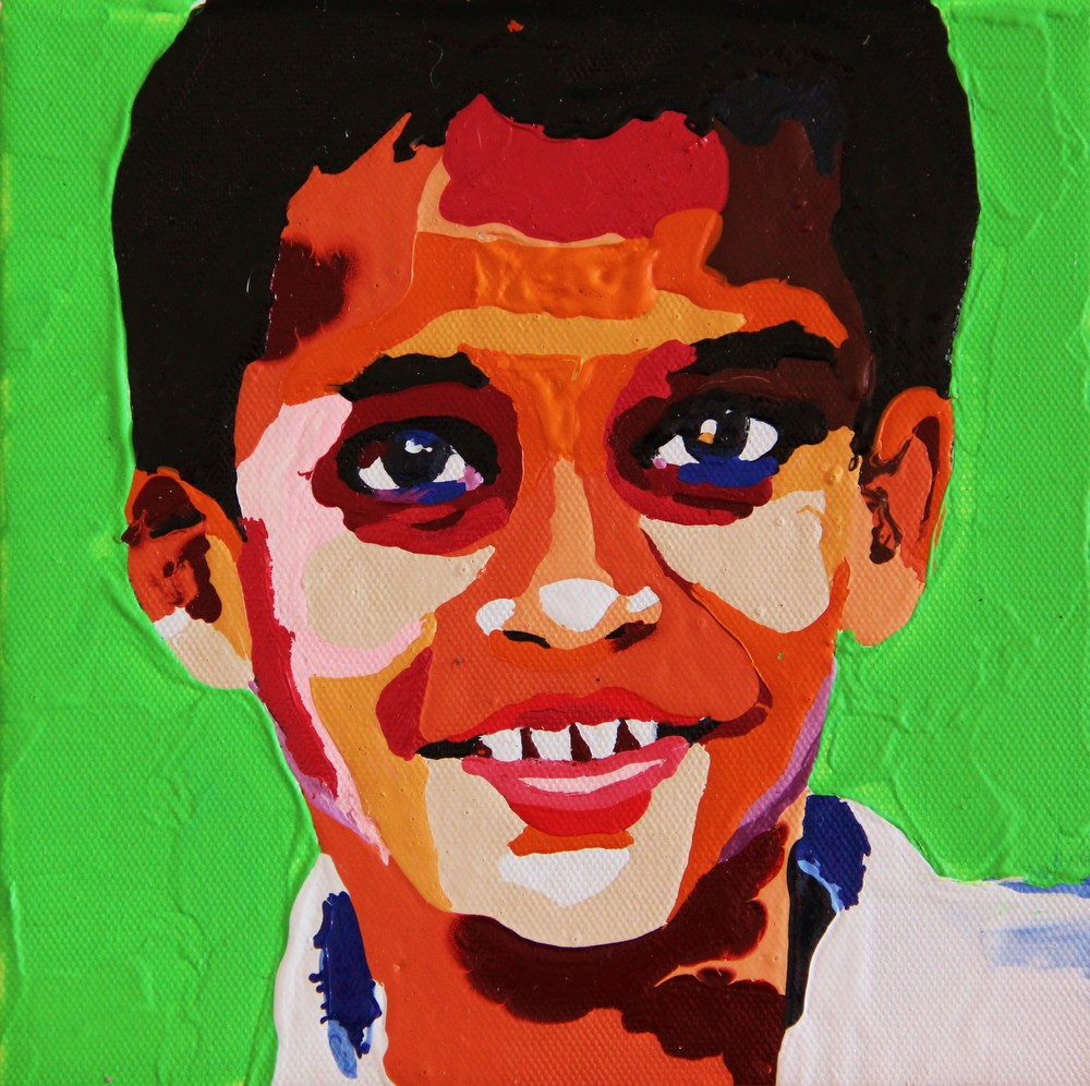 Acrylique sur toile, 20x20 cm  toile numéro 369