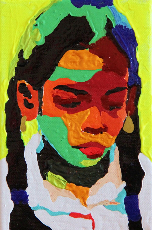 acrylique sur toile, 12x18 cm  toile numéro 372