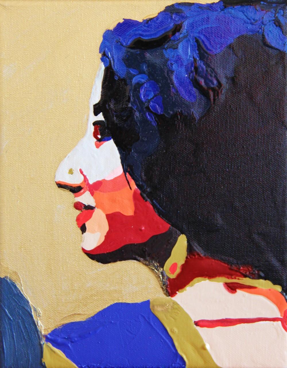 acrylique sur toile, 25x20 cm  toile numéro 374