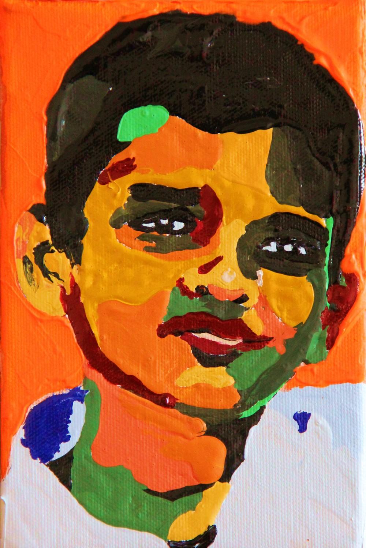 acrylique sur toile,12x18 cm  toile numéro 377     VENDU