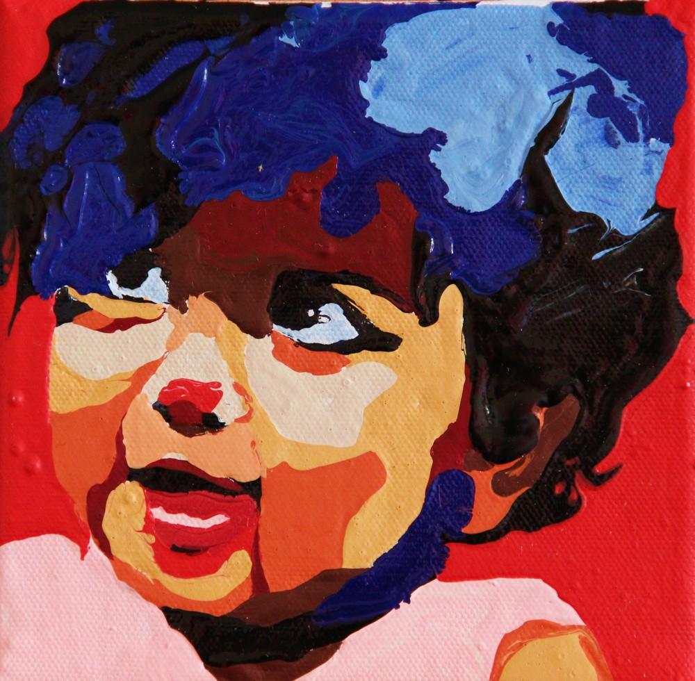 acrylique sur toile, 15x15 cm  toile numéro 370