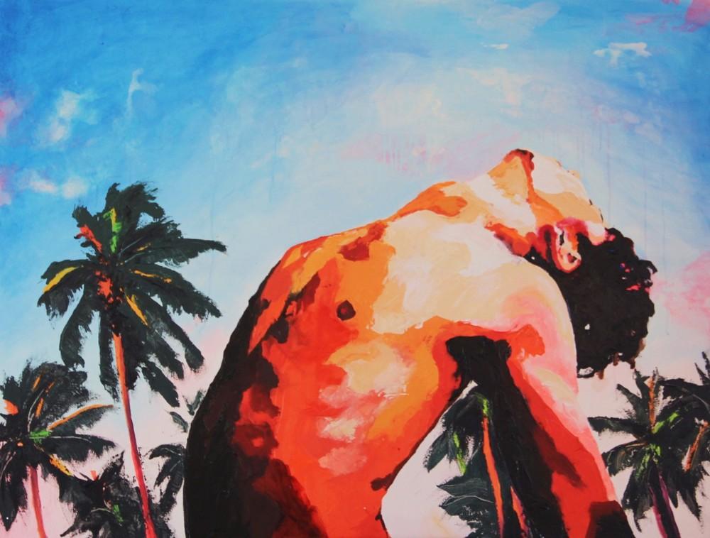 #414, acrylique et encre sur toile, 89x116 cm, juillet 2015