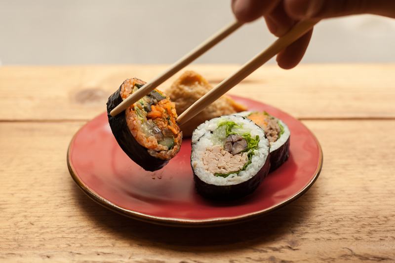 kimbap food photography
