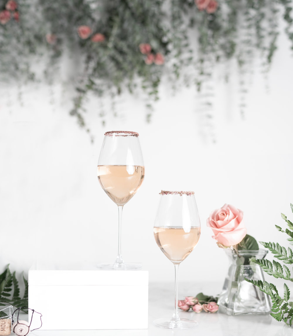 champagne rose cocktail riedel