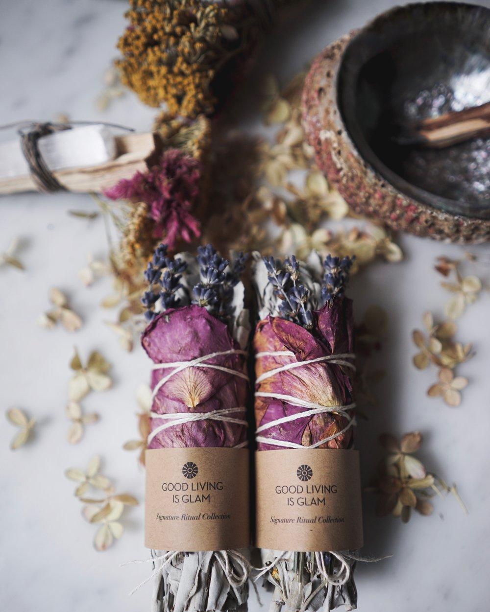 Floral Sage Smudge Stick — Good Living is Glam Sage Smudging 01cc1d2ff