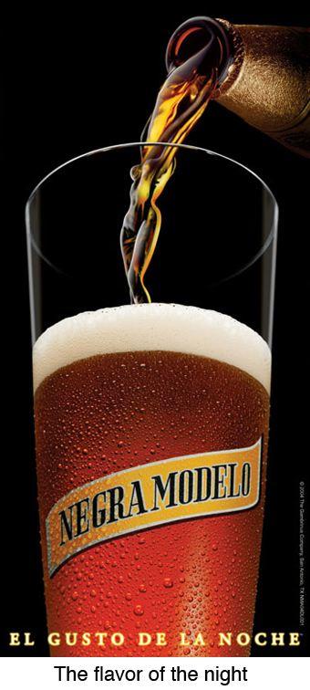 """Negra Modelo. The taste of the night..."""