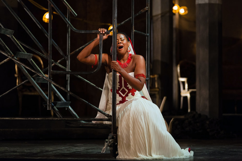 Adina Aaron in the title role of The Glimmerglass Festival 2012 production of  Aida .