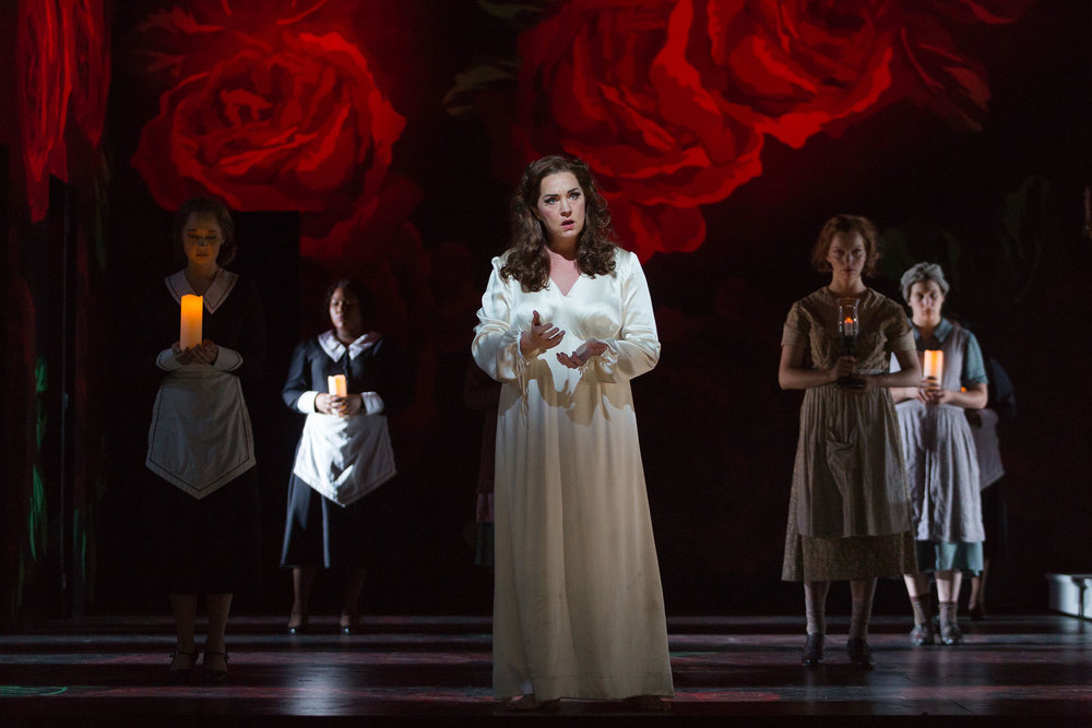 Melody Moore as Lady Macbeth in The Glimmerglass Festival's 2015 production of  Macbeth .