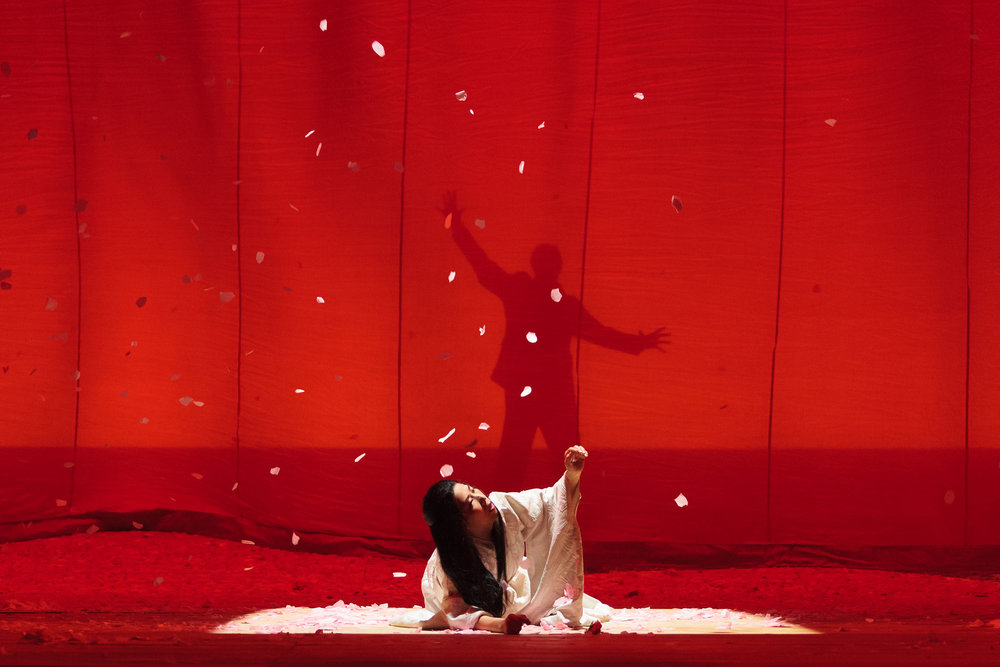 Yunah Lee as Cio-Cio-San in The Glimmerglass Festival's 2014 production of Puccini's  Madame Butterfly .