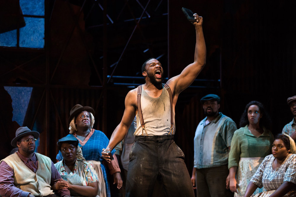 Norman Garrett as Crown in The Glimmerglass Festival's 2017 production of The Gershwins'  Porgy and Bess .