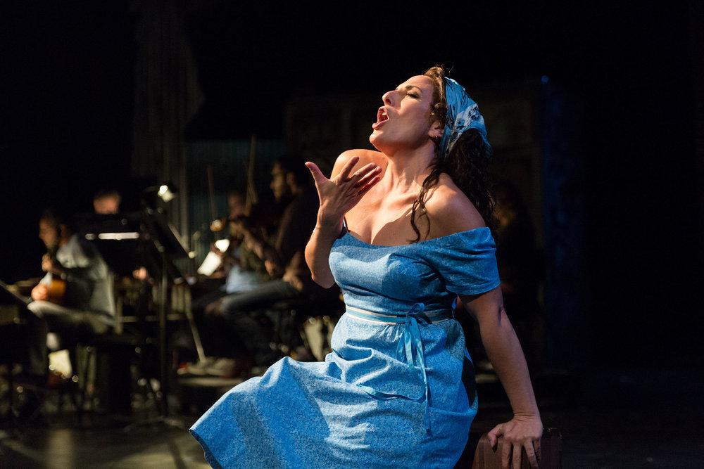 Mezzo-soprano Audrey Babcock as Maria in San Diego Opera's  Maria De Buenos Aires , 2018.