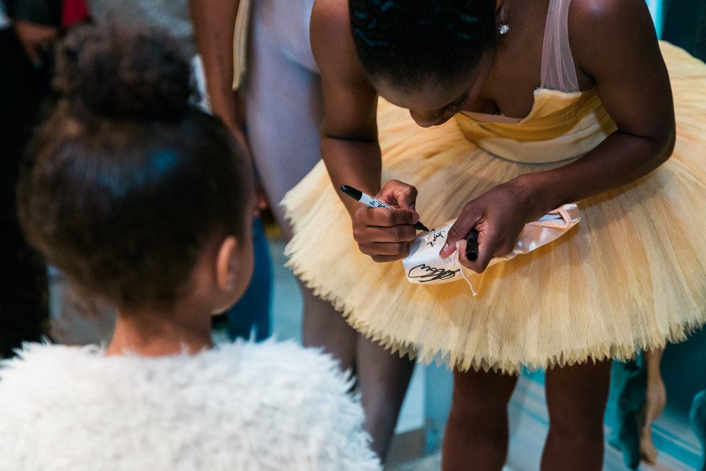Dance Theatre of Harlem company member Ingrid Silva, during a  Meet the Ballerina  event at New York City Center.
