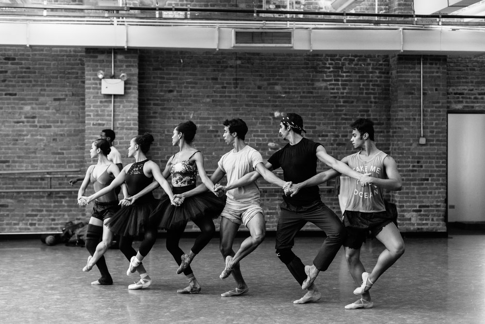 In rehearsal with Dance Theatre of Harlem.