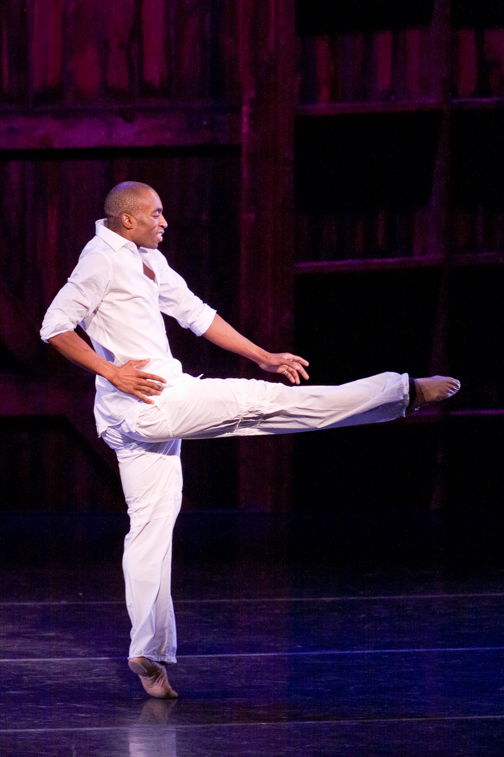 Desmond Richardson performs during  A Jazz Happening,  a one night only benefit performance featuring students of The School at Jacob's Pillow Dance Jazz/Musical Theatre program.