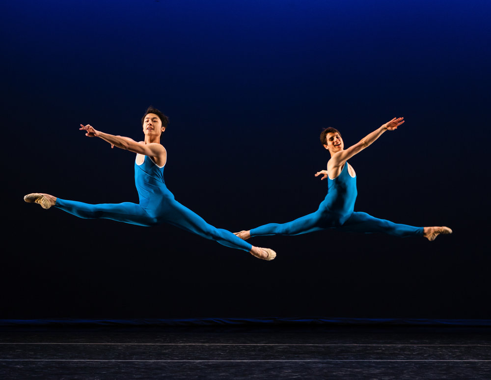 April-England  (world premiere), choreographed by Michael Corder, and performed by students of the Ballet Program at The School at Jacob's Pillow.