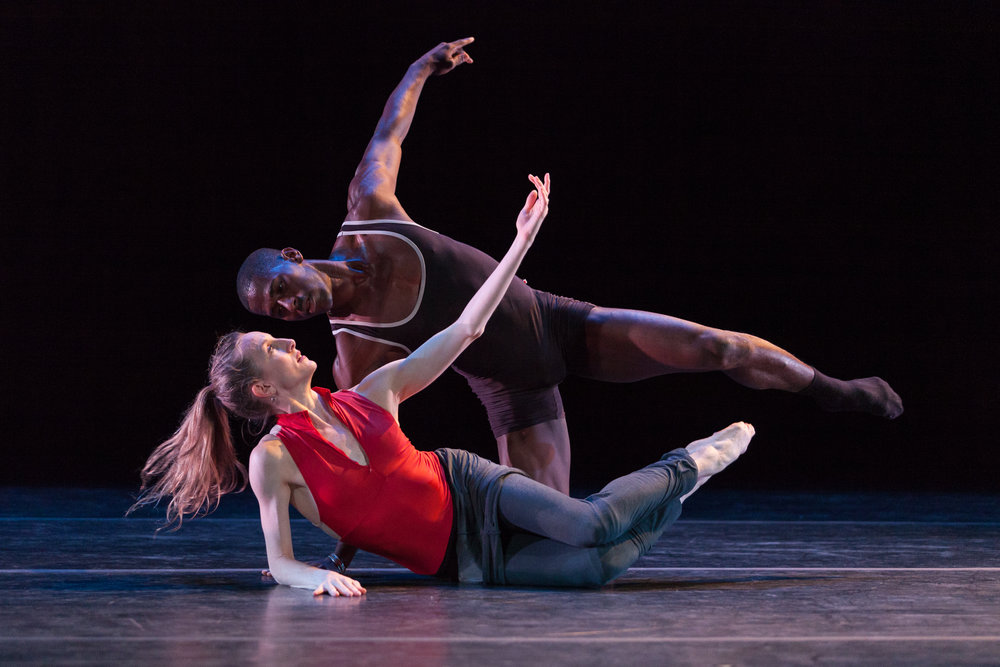 Dancers Lloyd Knight and Wendy Whelan during an on stage rehearsal for the Jacob's Pillow Dance Festival annual gala.