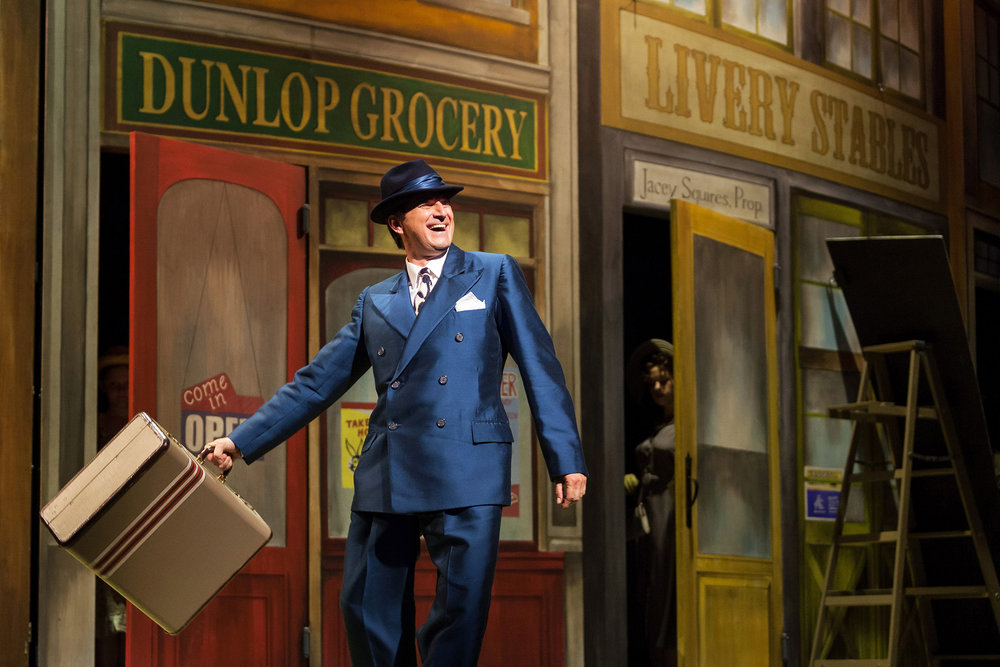 Dwayne Croft as Harold Hill in The Glimmerglass Festival's production of  The Music Man.