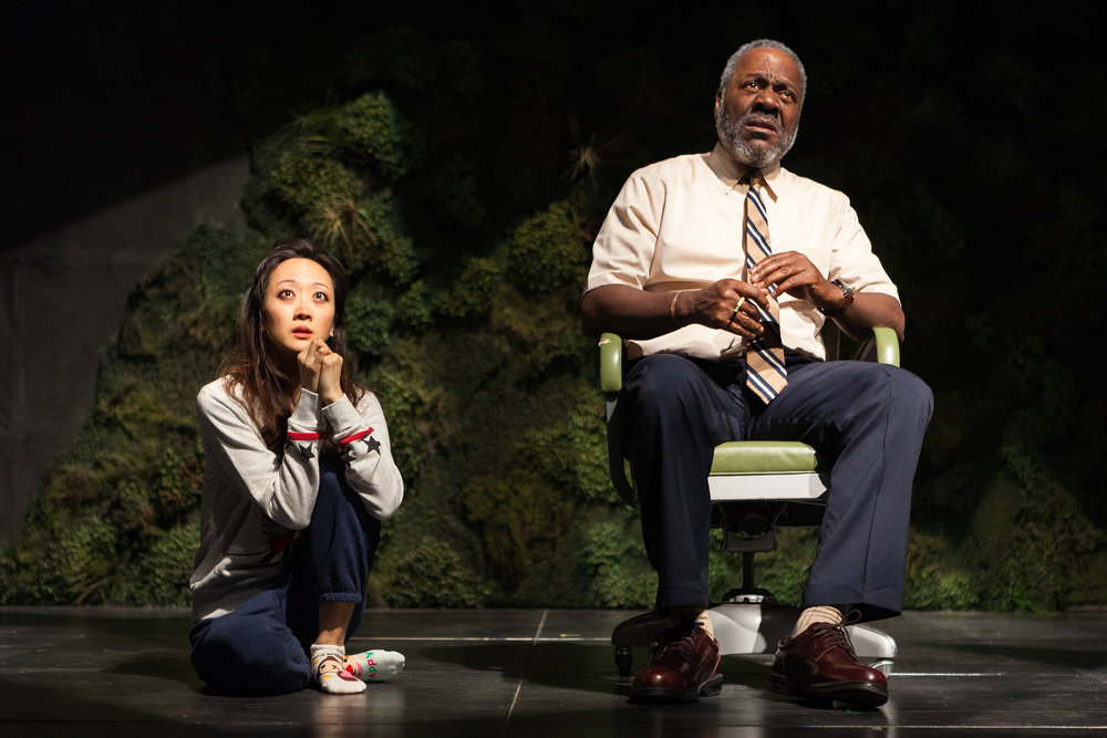 Sue Jean Kim and Frankie Faison in the Second Stage Theatre production of  Water by the Spoonful . Photographed for The New York Times.