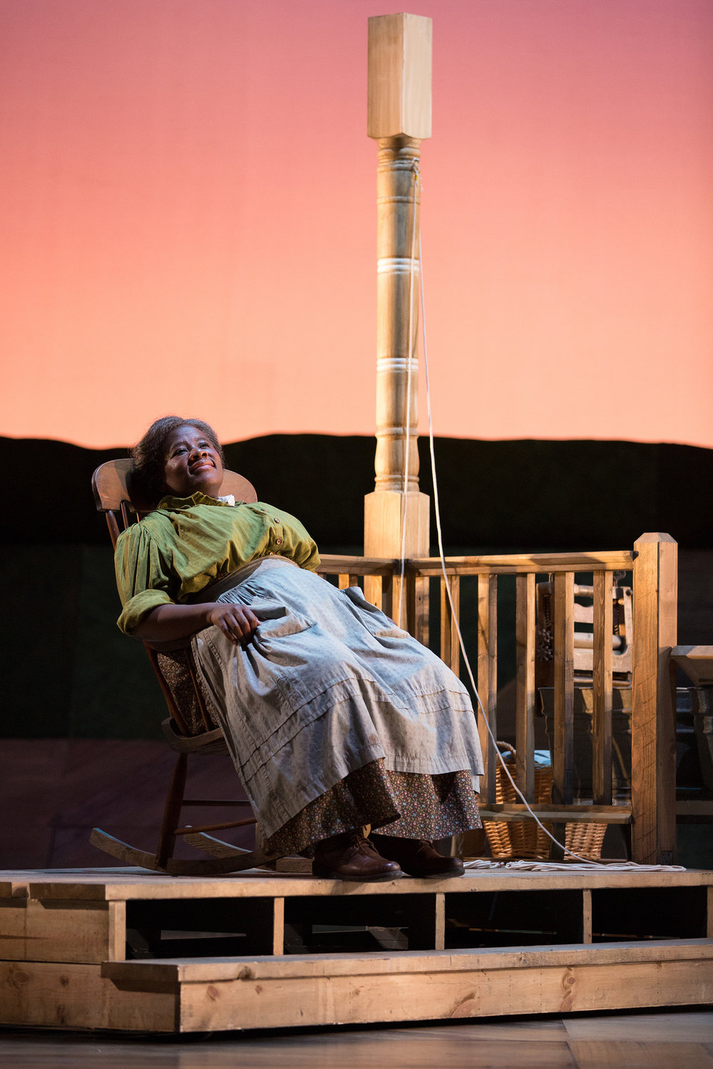 Judith Skinner as Aunt Eller in The Glimmerglass Festival's 2017 production of Rodgers and Hammerstein's  Oklahoma!