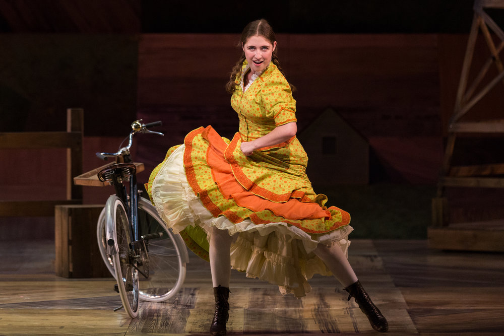 Emma Roos as Ado Annie Carnes in The Glimmerglass Festival's 2017 production of Rodgers and Hammerstein's  Oklahoma!