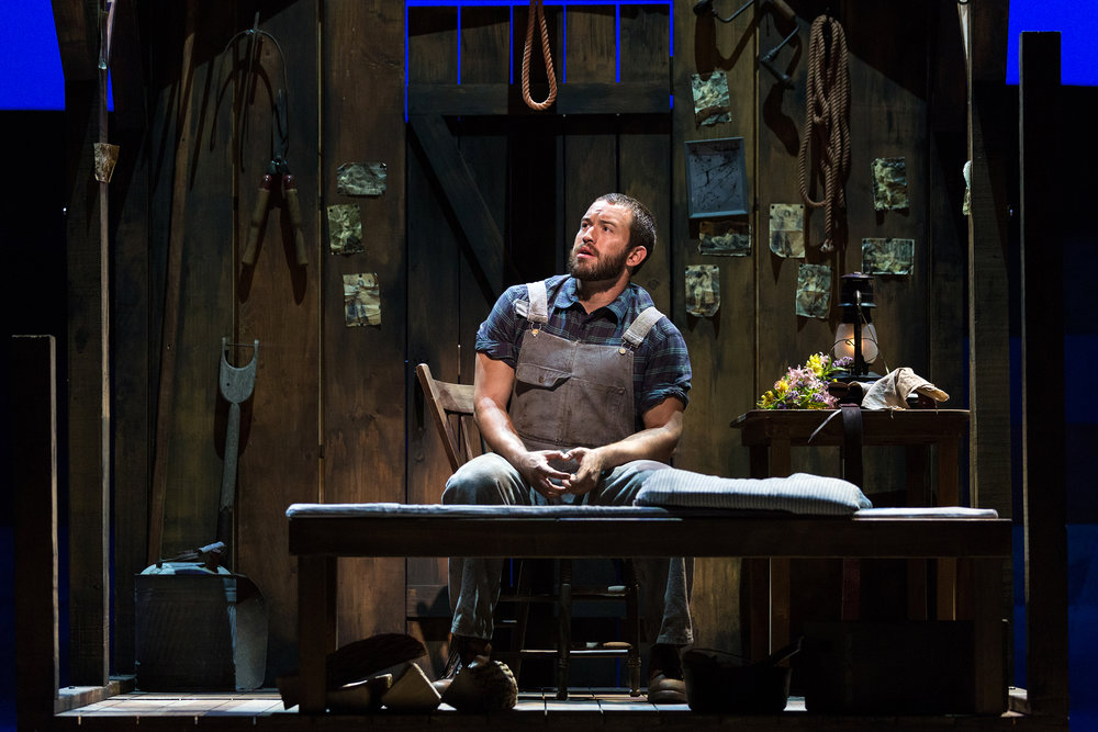 Michael Hewitt as Jud Fry in The Glimmerglass Festival's 2017 production of Rodgers and Hammerstein's  Oklahoma!