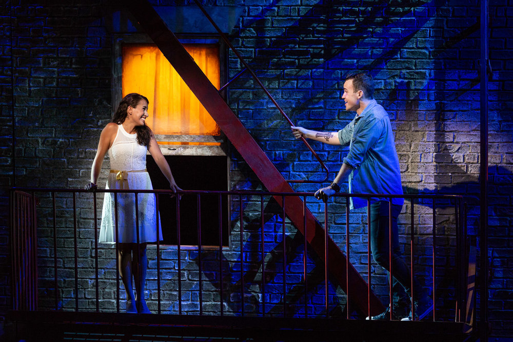 Vanessa Becerra as Maria and Joseph Leppek as Tony in The Glimmerglass Festival's 2018 production of Bernstein's  West Side Story .