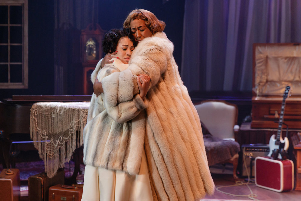 (L-R) Amaiya Holly and Noël Simoné Wippler in the Cygnet Theatre production of  Marie and Rosetta .