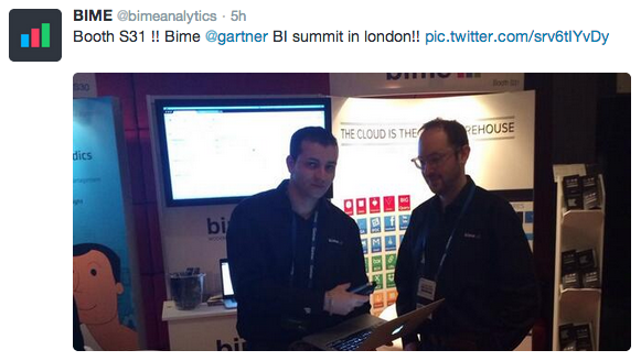 Two of BIME's product experts preparing the presentation.