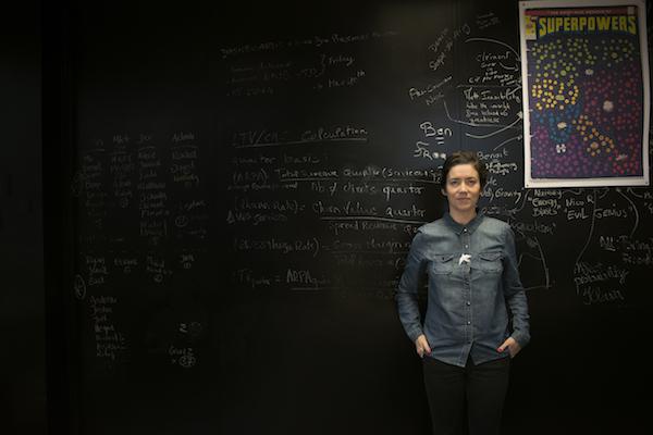 Rachel Delacour, fondatrice et directrice de BIME, dasn les locaux de la  startup basée à Montpellier.25.11.2014, Montpellier, France.