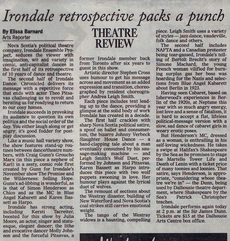 chronicle herald  february 17th 2001