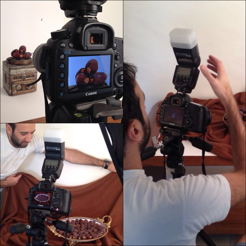 A Diptic of thestudio photo-shoot for a large Medjool/Date producers from Al-Ghore, Jordan